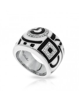 Geometrica Black and White Ring