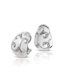 Royale White Earrings