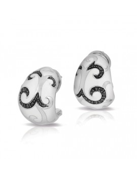 Royale Black and White Earrings