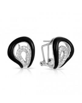 Vapeur Black Earrings