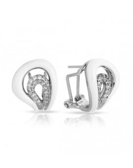 Vapeur White Earrings
