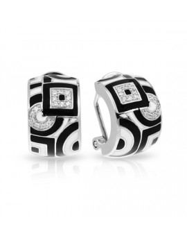 Geometrica Black and White Earrings