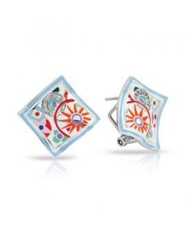 Pashmina White Earrings