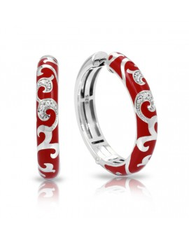 Royale Hoops Red Earrings