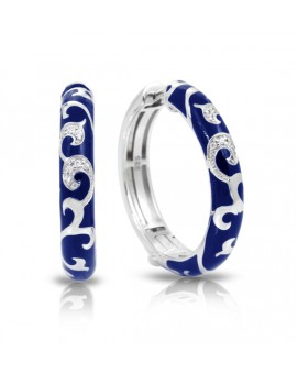 Royale Hoops Blue Earrings