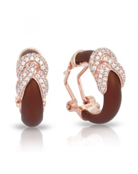 Ariadne Brown and Rose Gold Earrings