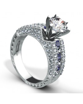Hand Engraved Perfect Profile Diamond Ring Style 18M00020BSDCZ