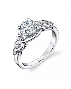 Vintage Inspired Diamond Pave Set Solea Ring Style 18R320DCZ