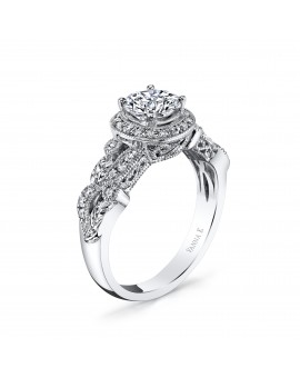 Hand Engraved Perfect Profile Diamond Ring Style 18R873DCZ