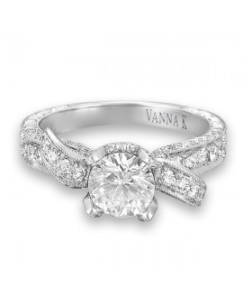 Hand Engraved Perfect Profile Diamond Ring Style 18RGL00279DCZ