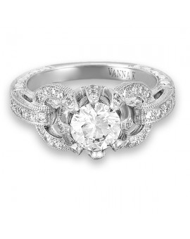 Hand Engraved Perfect Profile Diamond Ring Style 18RGL00302DCZ