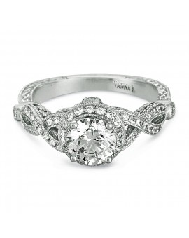 Hand Engraved Perfect Profile Diamond Ring Style 18RGL00441DCZ