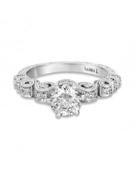 Hand Engraved Perfect Profile Diamond Ring Style 18RGL00454DCZ
