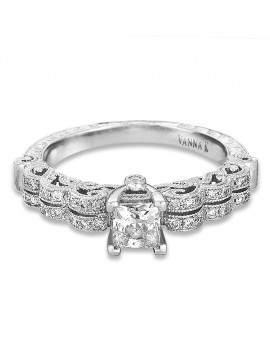 Hand Engraved Perfect Profile Diamond Ring Style 18RGL463DCZ