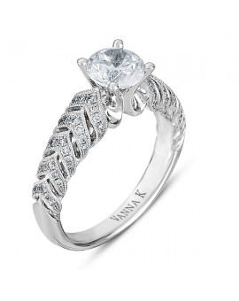 Vintage Inspired Diamond Pave Set Solea Ring Style 18RM48919DCZ