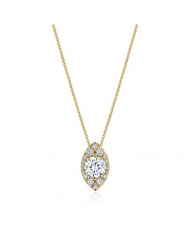 """17"""" Vertical Marquise Bloom Diamond Necklace"""