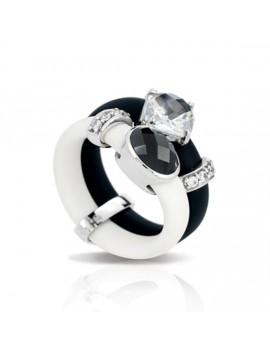 Venezia Black and White Ring