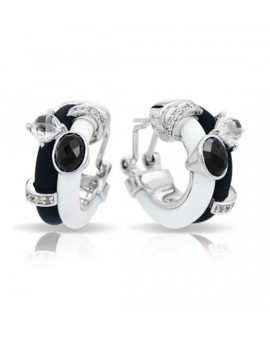 Venezia Black and White Earrings