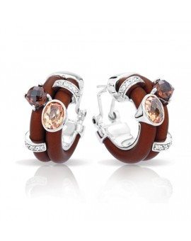 Venezia Brown and Champagne Earrings