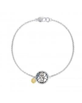 Pav Monogram Chain Bracelet
