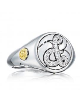 Pav Monogram Ring