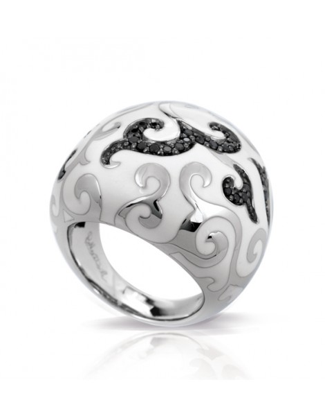 Royale Black and White Ring
