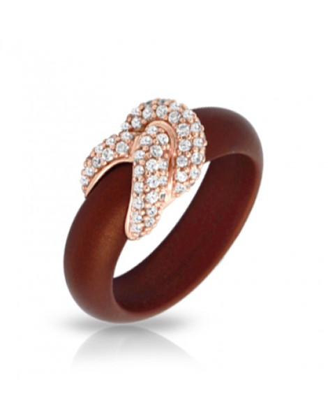 Ariadne Brown and Rose Gold Ring