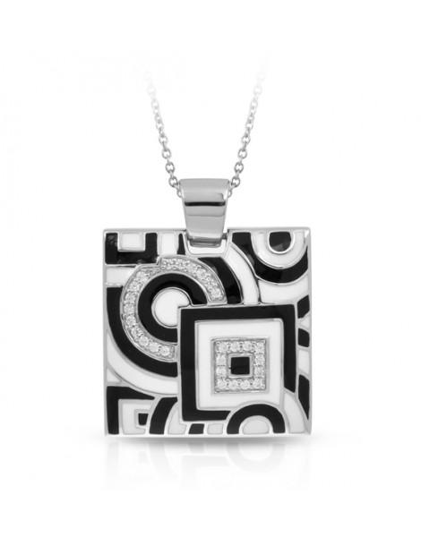 Geometrica Black and White Pendant