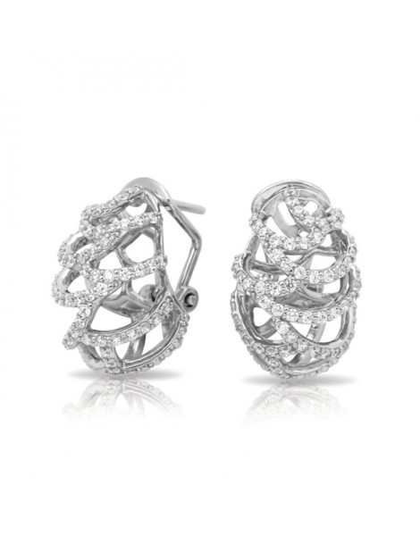 Monaco White Earrings