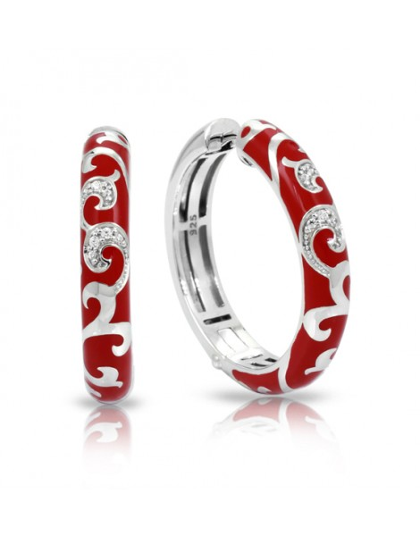 Royale Hoops Red Earrings