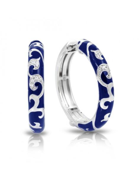 Royale Hoops Blue Earrings