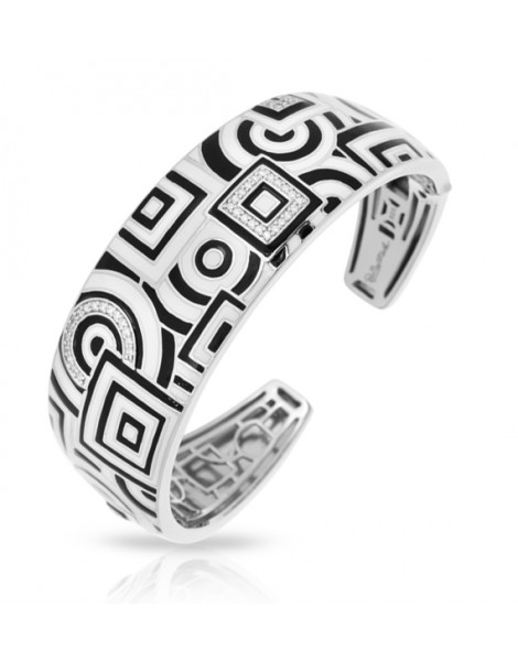 Geometrica Black and White Bangle