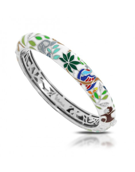 Rainforest Canopy White Bangle