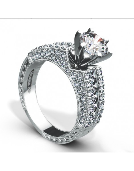Ultra Lux Cascade Bridal Ring Style 18M00020CZ