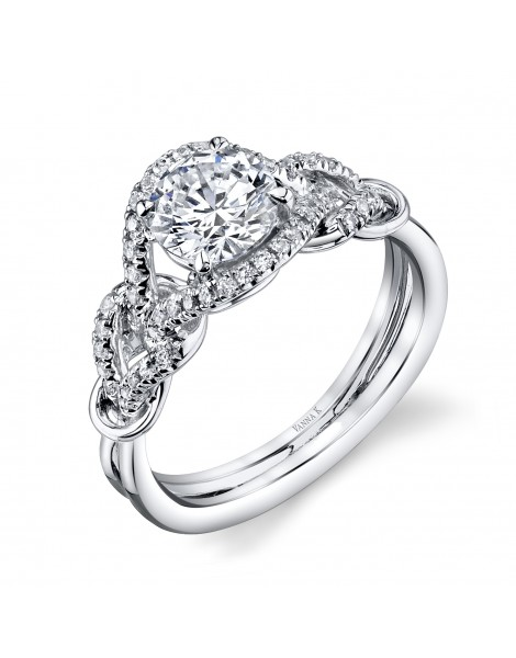 Vintage Inspired Diamond Pave Set Solea Ring Style 18R311DCZ