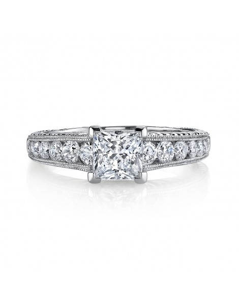 Vintage Inspired Diamond Pave Set Solea Ring Style 18RGL00403DCZ