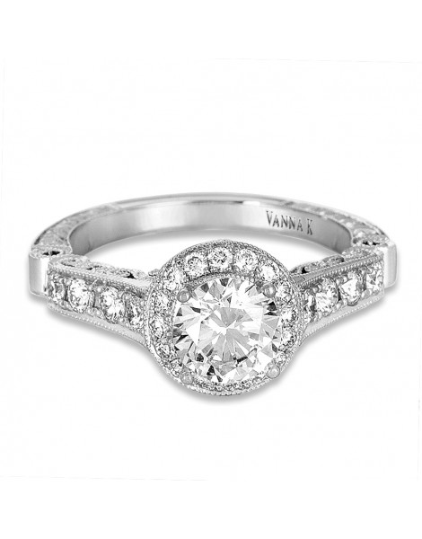 Hand Engraved Perfect Profile Diamond Ring Style 18RGL00460DCZ