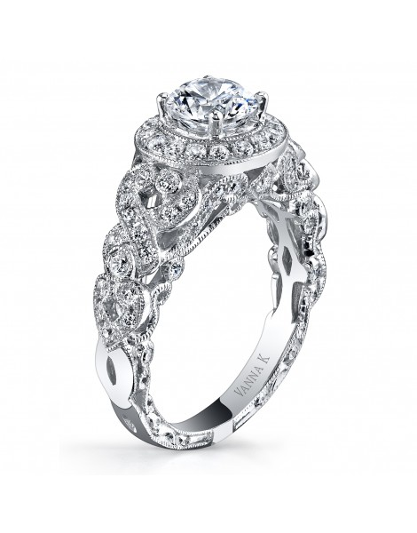 Hand Engraved Perfect Profile Diamond Ring Style 18RGL00649DCZ
