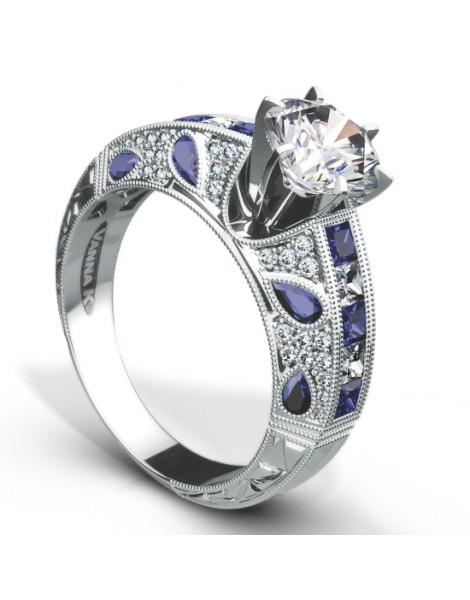 Hand Engraved Perfect Profile Diamond Ring Style 18RGL0172SDCZ