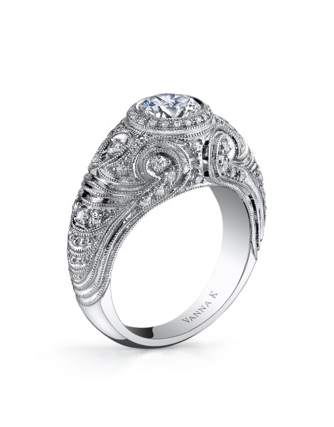 Hand Engraved Perfect Profile Diamond Ring Style 18RGL756DCZ