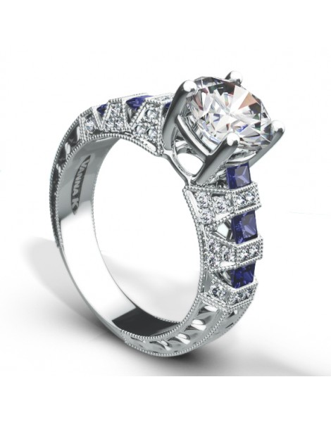 Hand Engraved Perfect Profile Diamond Ring Style 18RO20610TD