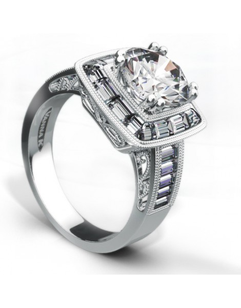 Ultra Lux Cascade Bridal Ring Style 18RO4896DCZ