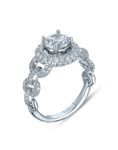 Vintage Inspired Diamond Pave Set Solea Ring Style 18RO5798DCZ