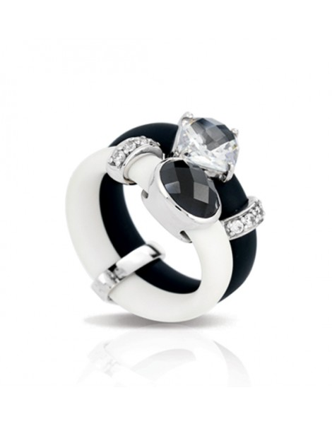 Venezia Black and White Ring