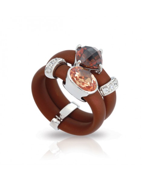Venezia Brown and Champagne Ring