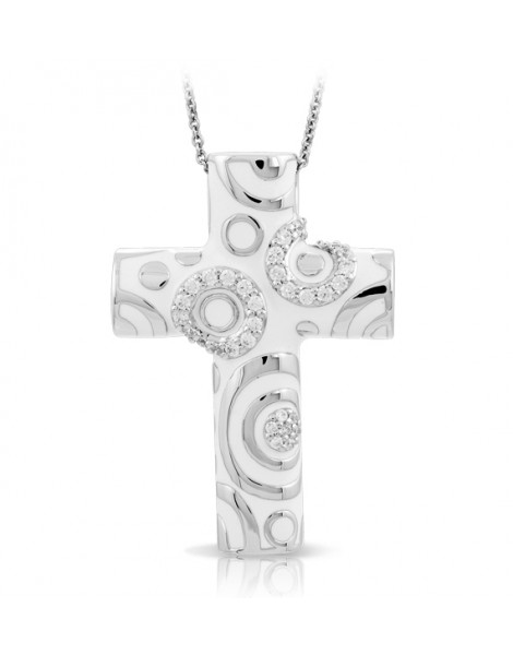 Galaxy White Cross Pendant
