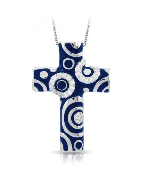 Galaxy Blue Cross Pendant