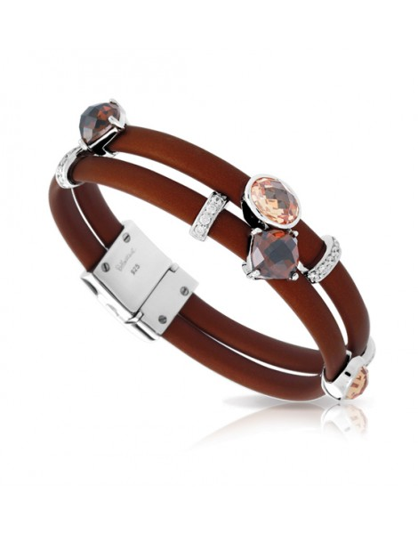 Venezia Brown and Champagne Bracelet